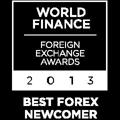 2013 Best forex newcomer World Finance award