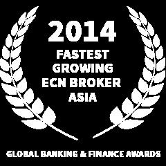 2014 Fastest growing ECN Broker Asia award