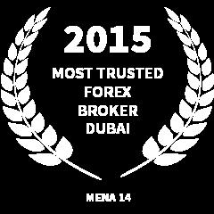 2015 Most trusted forex broker Dubai award