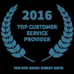 2016 Top customer service provider award