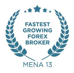 2013 Fastest Growing Forex Broker MENA 13 award