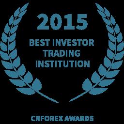 2015 Best investor trading institution award