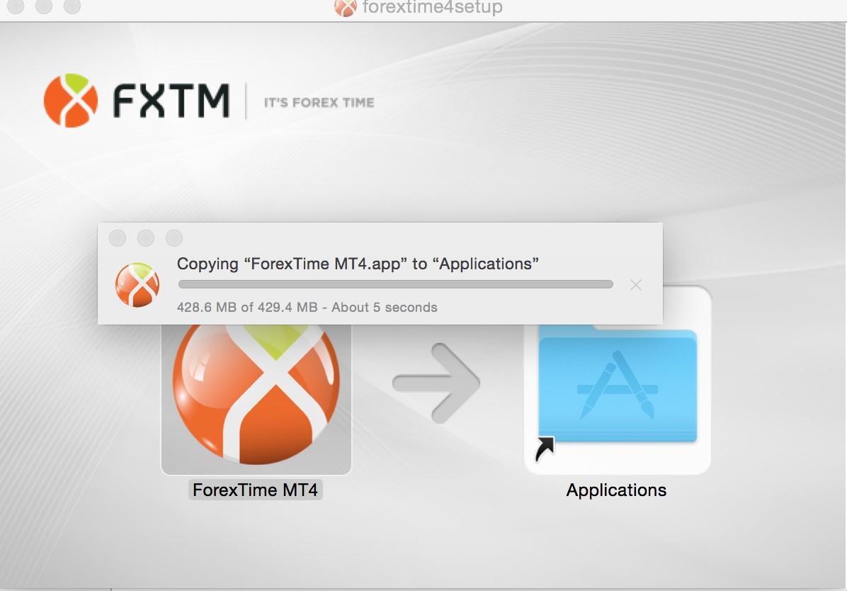 Загрузка и установка MT4 для Mac – Шаг 3