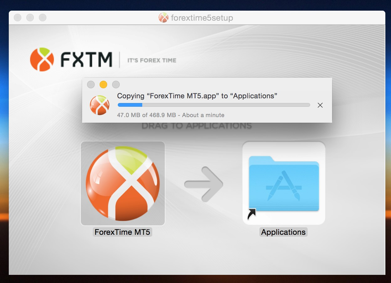 Download and install MT5 for Mac – Step 4