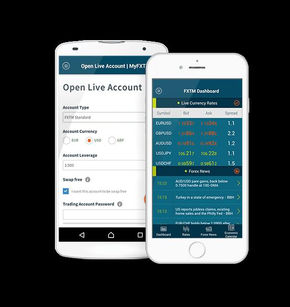App móvil para traders en forex, por FXTM