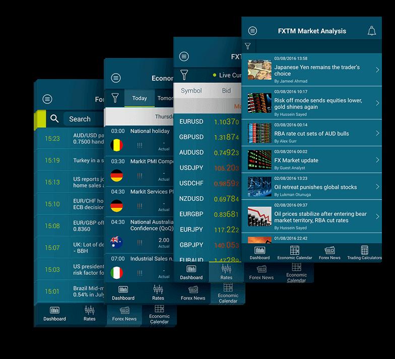 Mobile app per trader forex di FXTM