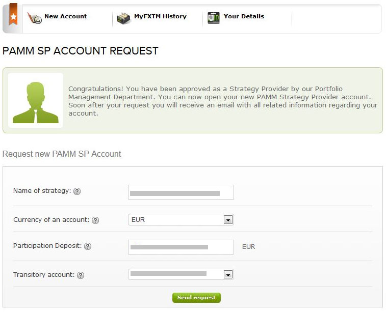 Forextime pamm account