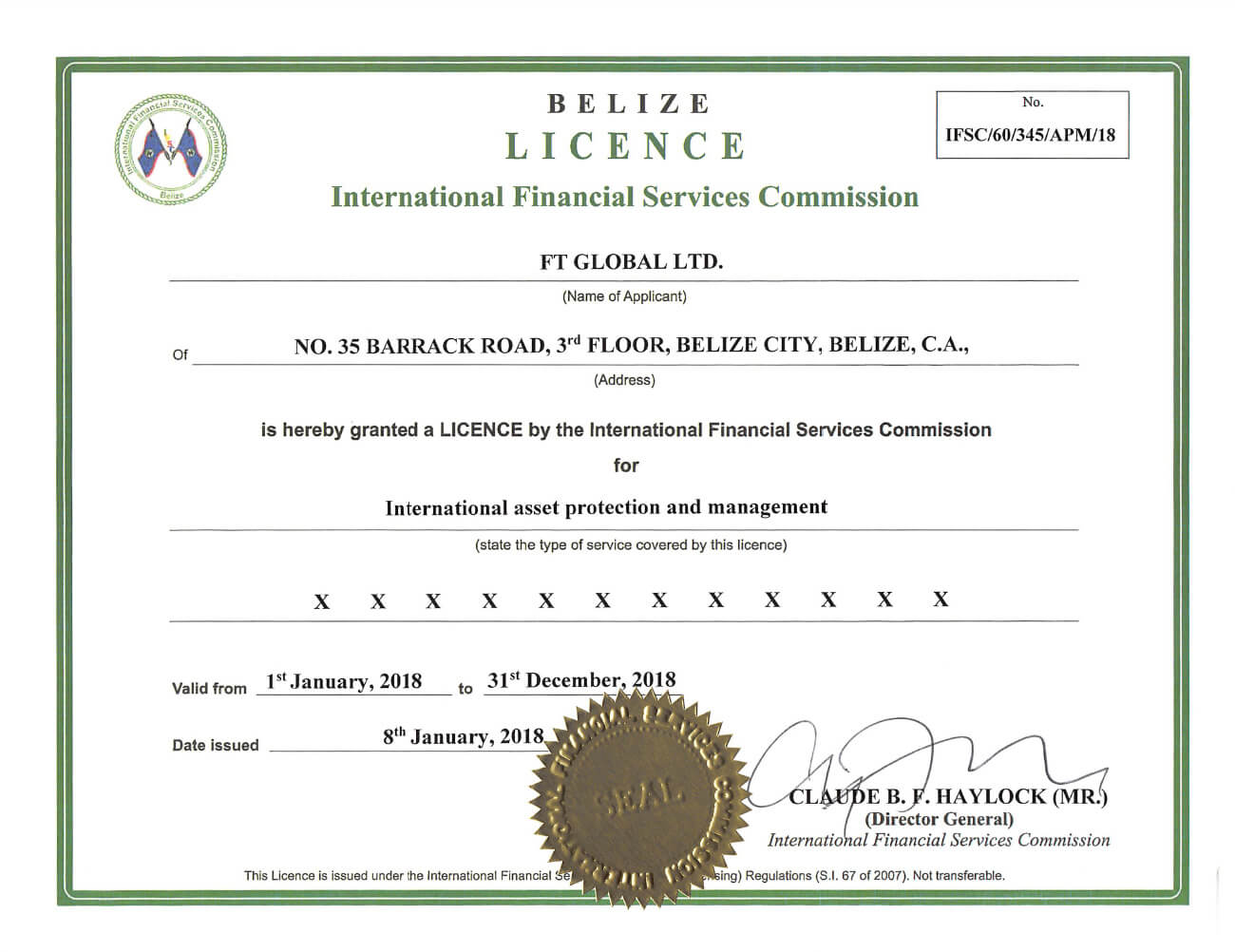 IFSC License