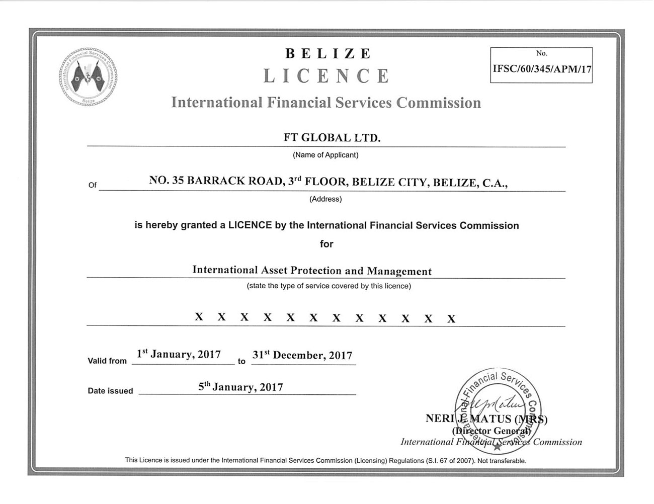 Belize forex brokerage license